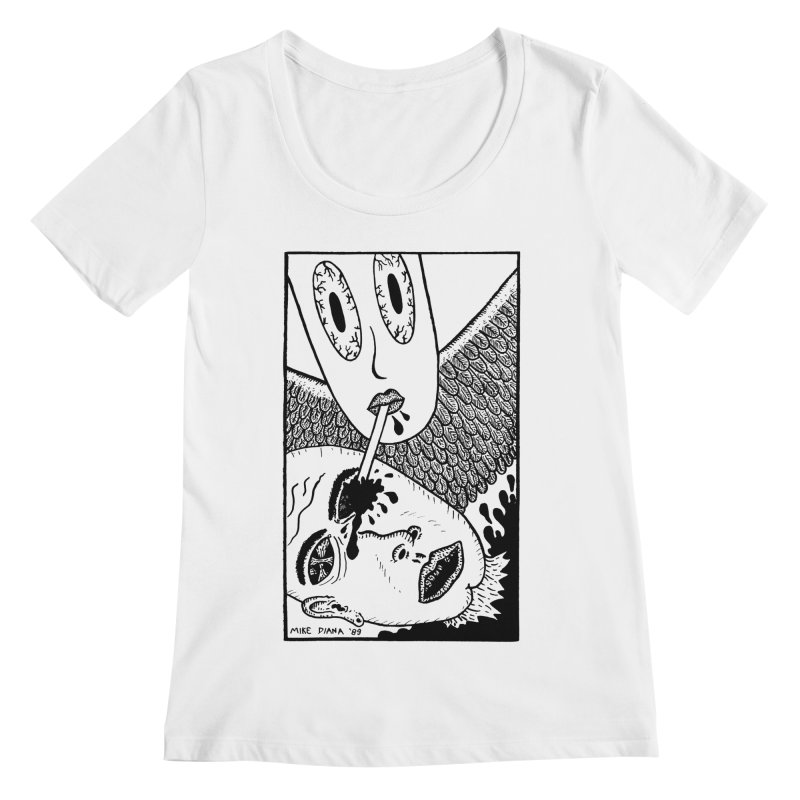 "Mike Diana ""Sip"" Women's Regular Scoop Neck by Mike Diana T-Shirts Mugs and More!"