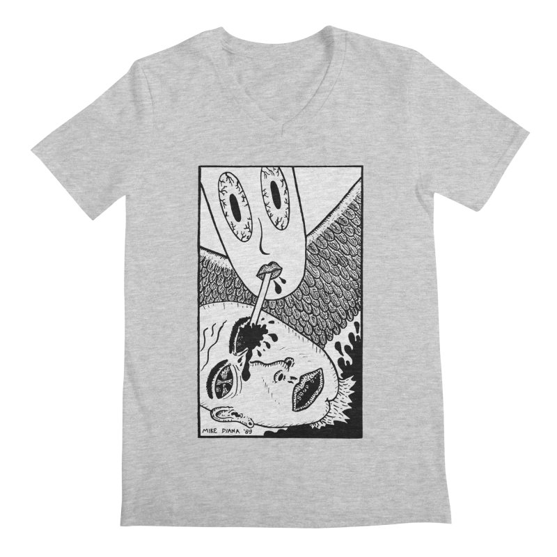 """Mike Diana """"Sip"""" Men's Regular V-Neck by Mike Diana T-Shirts Mugs and More!"""