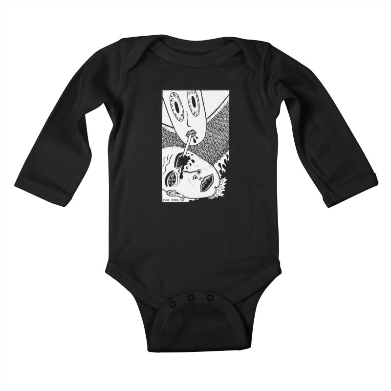 "Mike Diana ""Sip"" Kids Baby Longsleeve Bodysuit by Mike Diana T-Shirts! Horrible Ugly Heads Limited E"