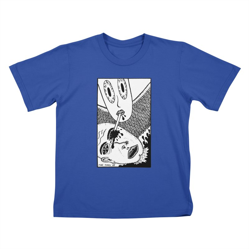 "Mike Diana ""Sip"" Kids T-Shirt by Mike Diana T-Shirts! Horrible Ugly Heads Limited E"