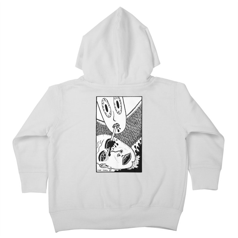 """Mike Diana """"Sip"""" Kids Toddler Zip-Up Hoody by Mike Diana T-Shirts! Horrible Ugly Heads Limited E"""