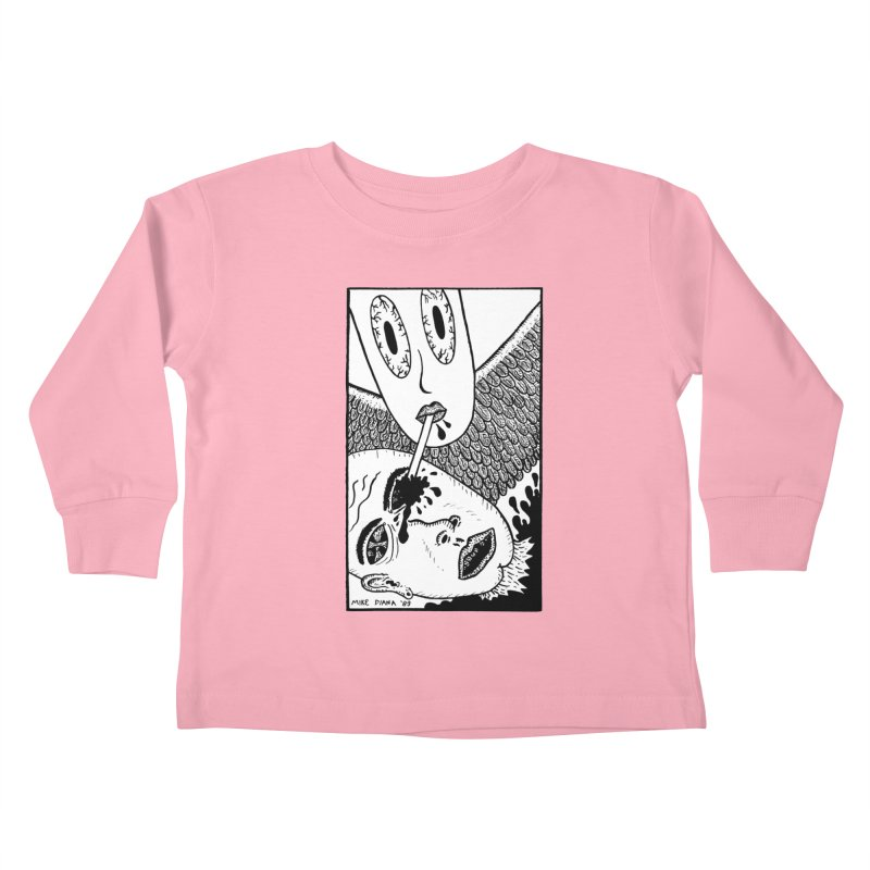 """Mike Diana """"Sip"""" Kids Toddler Longsleeve T-Shirt by Mike Diana T-Shirts! Horrible Ugly Heads Limited E"""