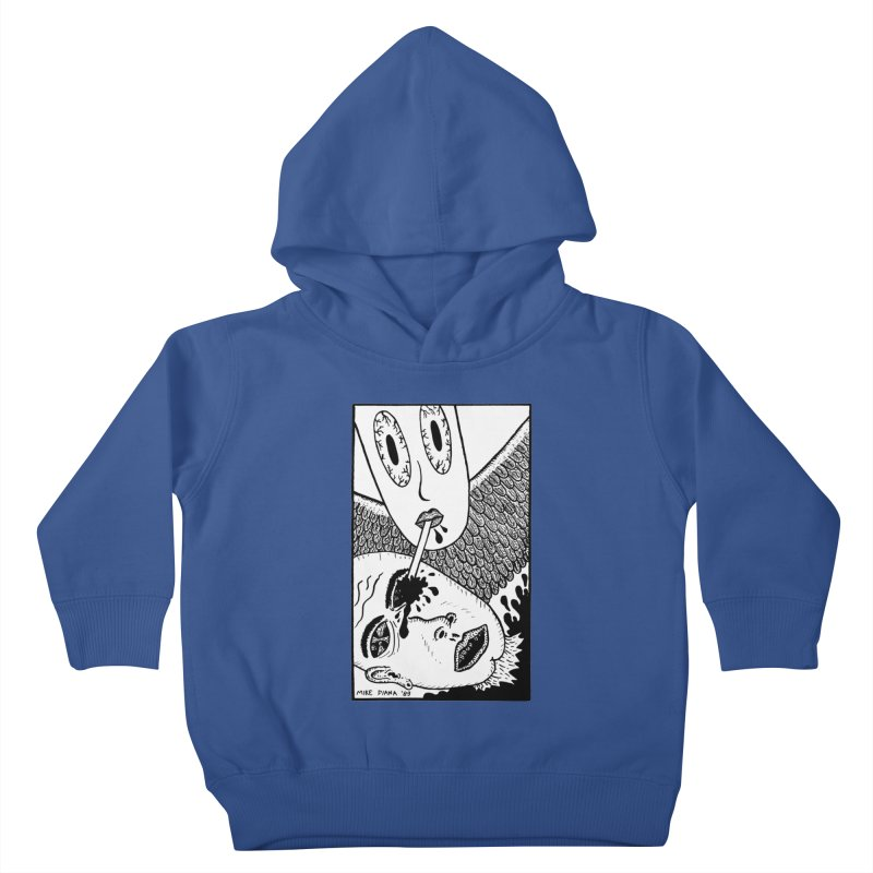 """Mike Diana """"Sip"""" Kids Toddler Pullover Hoody by Mike Diana T-Shirts! Horrible Ugly Heads Limited E"""