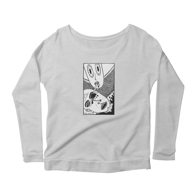"""Mike Diana """"Sip"""" Women's Scoop Neck Longsleeve T-Shirt by Mike Diana T-Shirts Mugs and More!"""