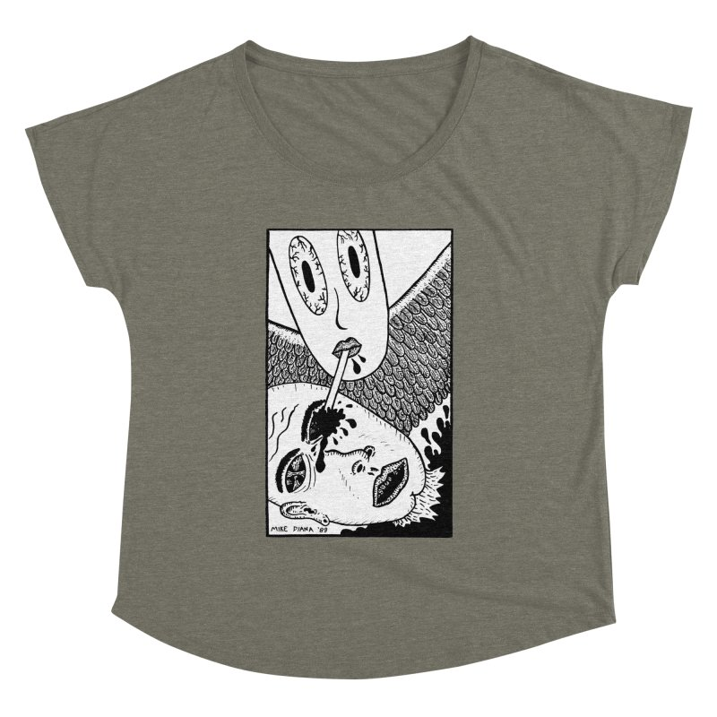 """Mike Diana """"Sip"""" Women's Dolman by Mike Diana T-Shirts! Horrible Ugly Heads Limited E"""