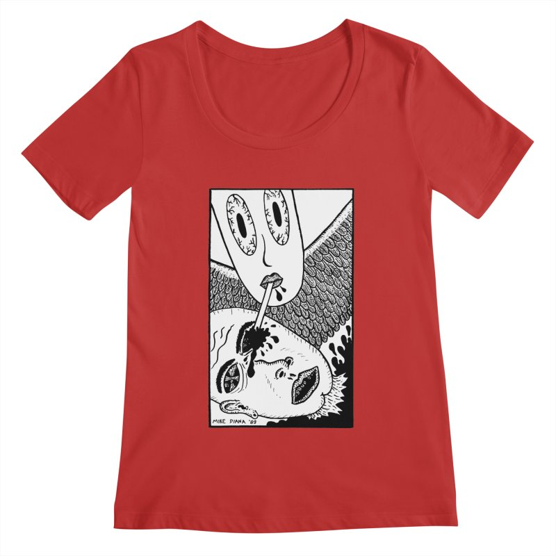 """Mike Diana """"Sip"""" Women's Scoopneck by Mike Diana T-Shirts! Horrible Ugly Heads Limited E"""