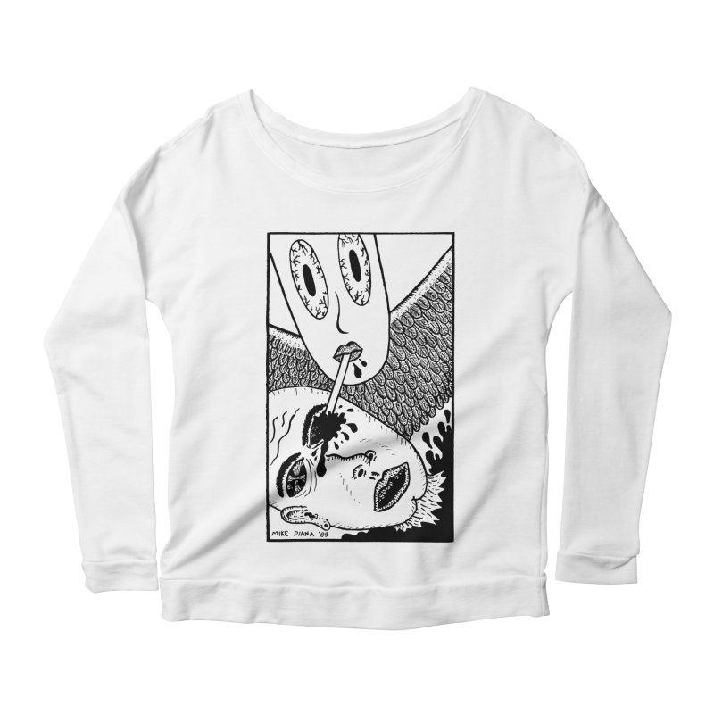 "Mike Diana ""Sip"" Women's Scoop Neck Longsleeve T-Shirt by Mike Diana T-Shirts Mugs and More!"