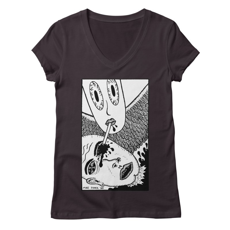"""Mike Diana """"Sip"""" Women's Regular V-Neck by Mike Diana T-Shirts Mugs and More!"""