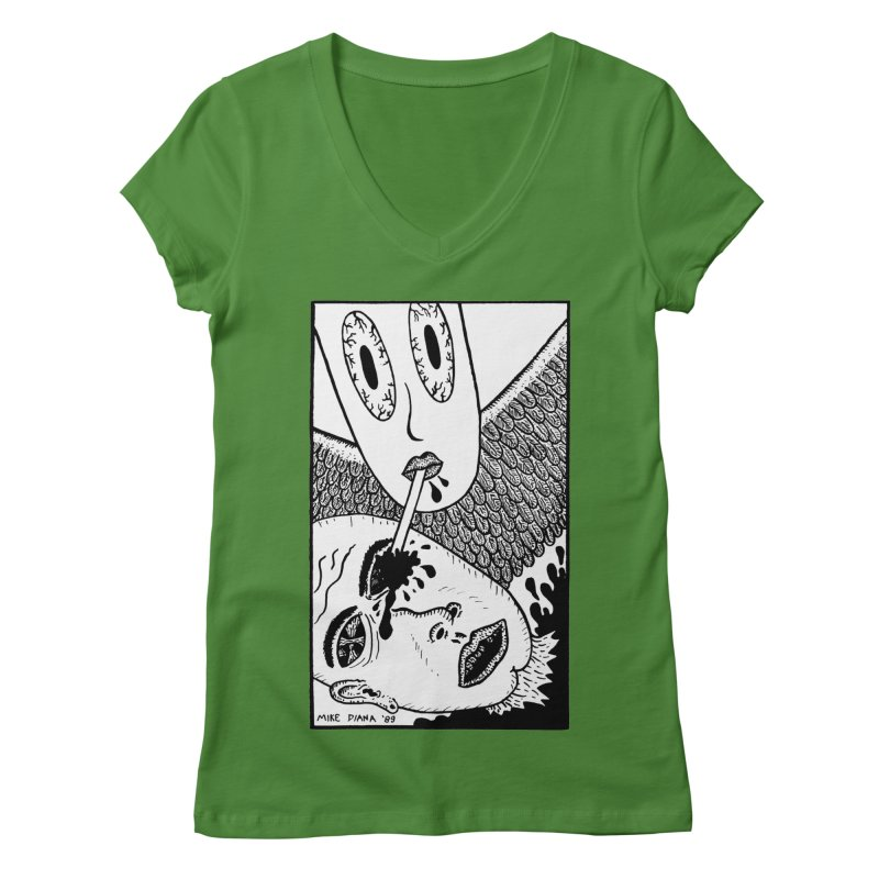 "Mike Diana ""Sip"" Women's Regular V-Neck by Mike Diana T-Shirts Mugs and More!"