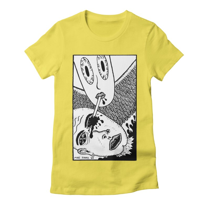 """Mike Diana """"Sip"""" Women's Fitted T-Shirt by Mike Diana T-Shirts! Horrible Ugly Heads Limited E"""