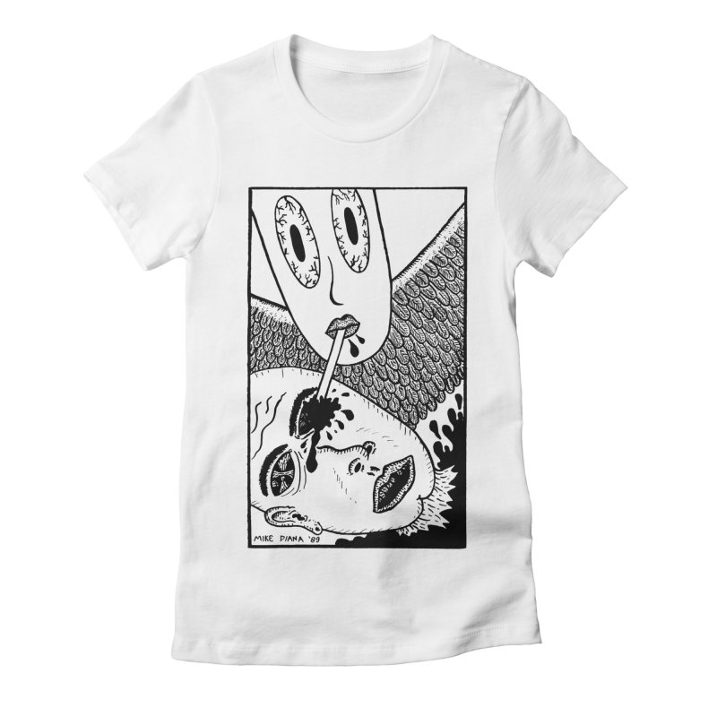 """Mike Diana """"Sip"""" Women's Fitted T-Shirt by Mike Diana T-Shirts Mugs and More!"""