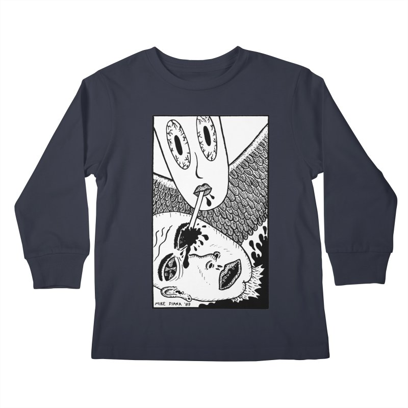 "Mike Diana ""Sip"" Kids Longsleeve T-Shirt by Mike Diana T-Shirts Mugs and More!"