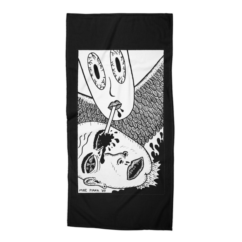 "Mike Diana ""Sip"" Accessories Beach Towel by Mike Diana T-Shirts Mugs and More!"