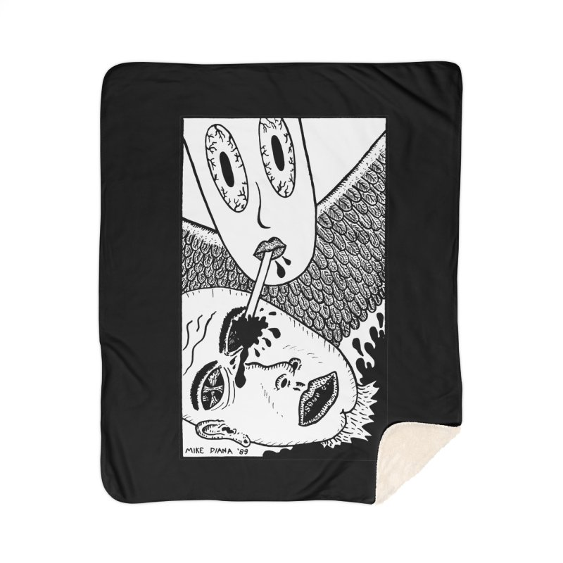 "Mike Diana ""Sip"" Home Sherpa Blanket Blanket by Mike Diana T-Shirts Mugs and More!"