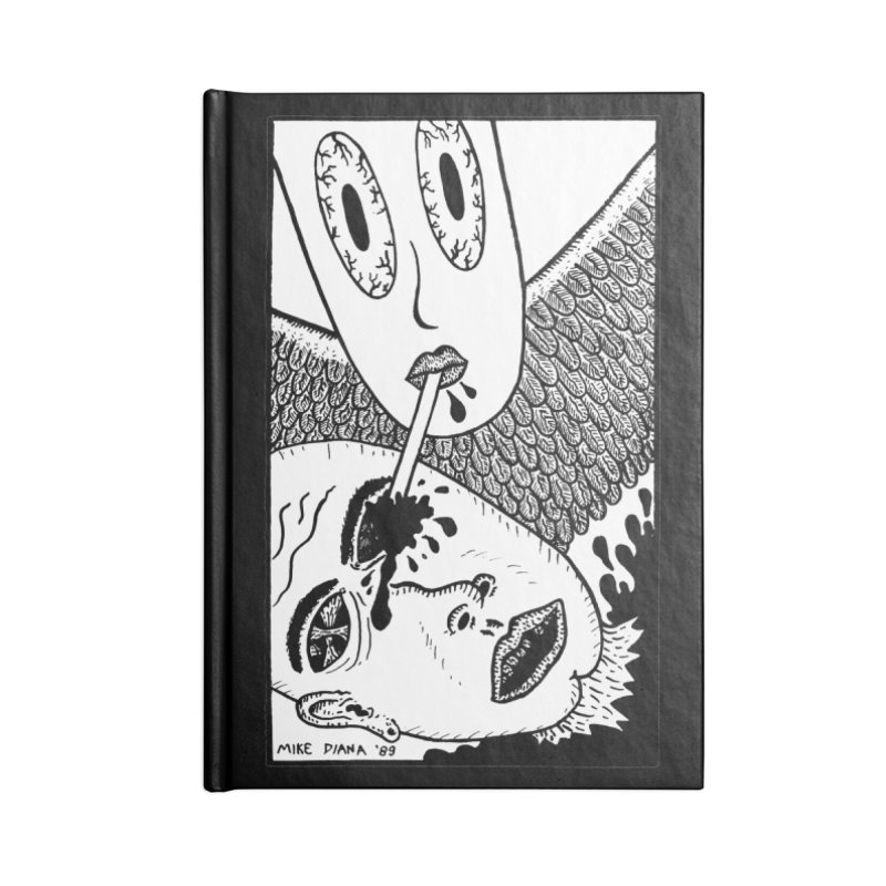 """Mike Diana """"Sip"""" Accessories Notebook by Mike Diana T-Shirts! Horrible Ugly Heads Limited E"""
