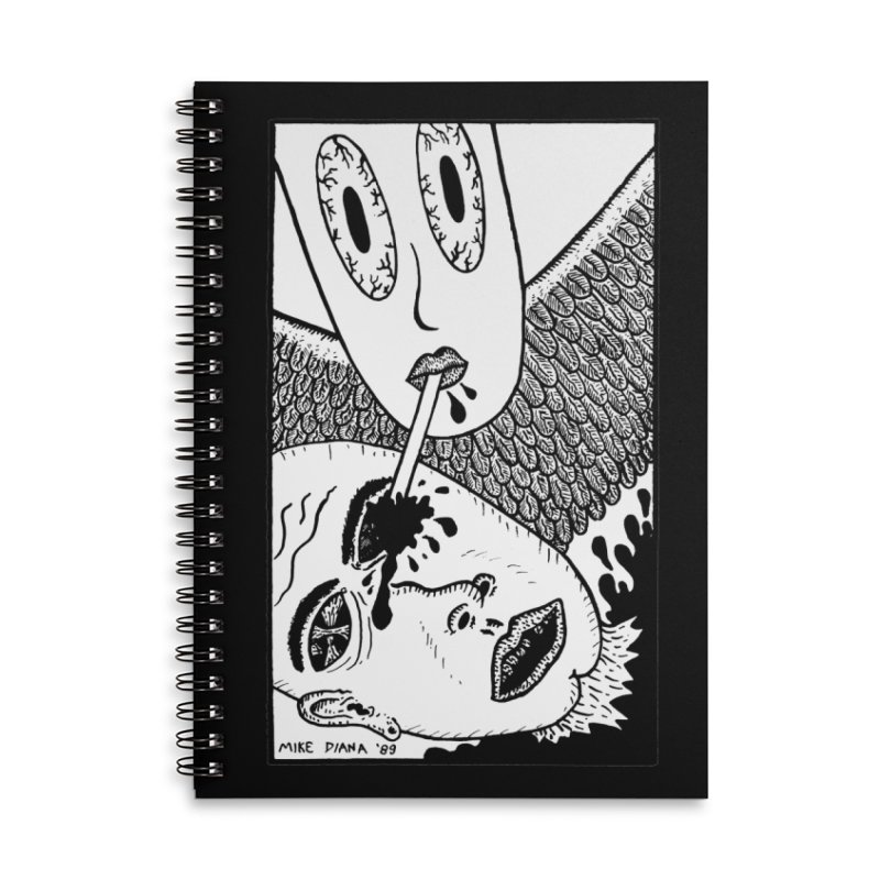 "Mike Diana ""Sip"" Accessories Lined Spiral Notebook by Mike Diana T-Shirts Mugs and More!"
