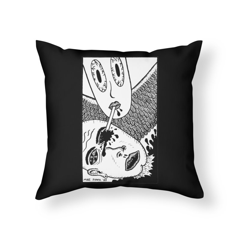 "Mike Diana ""Sip"" Home Throw Pillow by Mike Diana T-Shirts Mugs and More!"