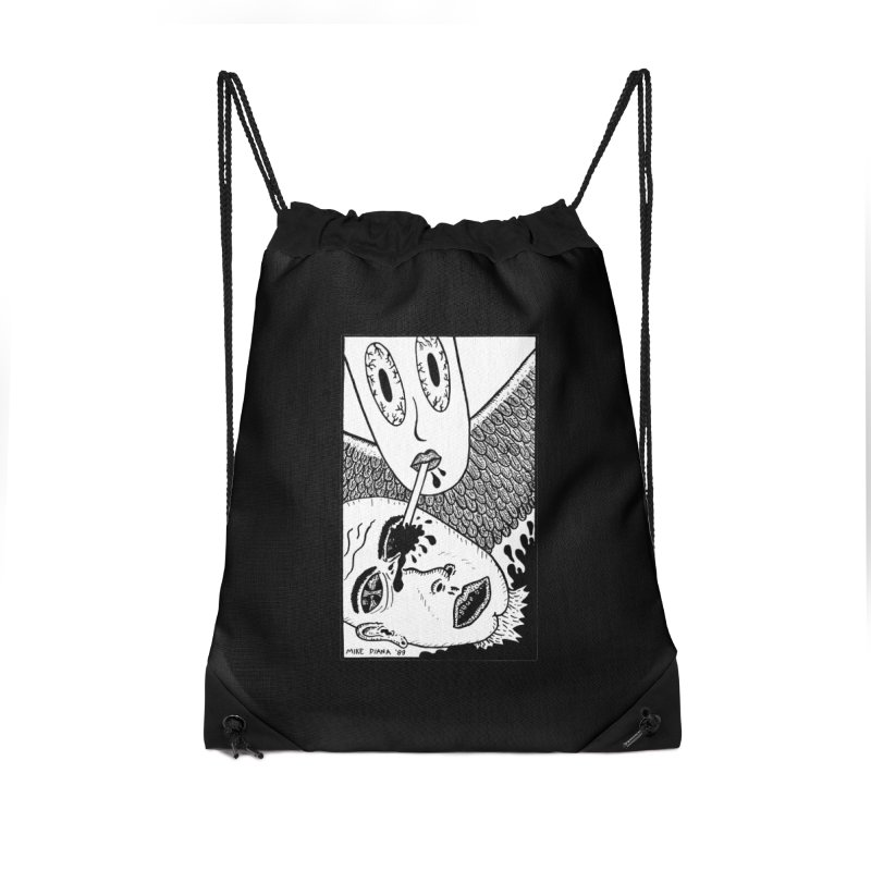 "Mike Diana ""Sip"" Accessories Drawstring Bag Bag by Mike Diana T-Shirts Mugs and More!"