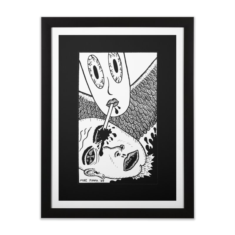 "Mike Diana ""Sip"" Home Framed Fine Art Print by Mike Diana T-Shirts! Horrible Ugly Heads Limited E"