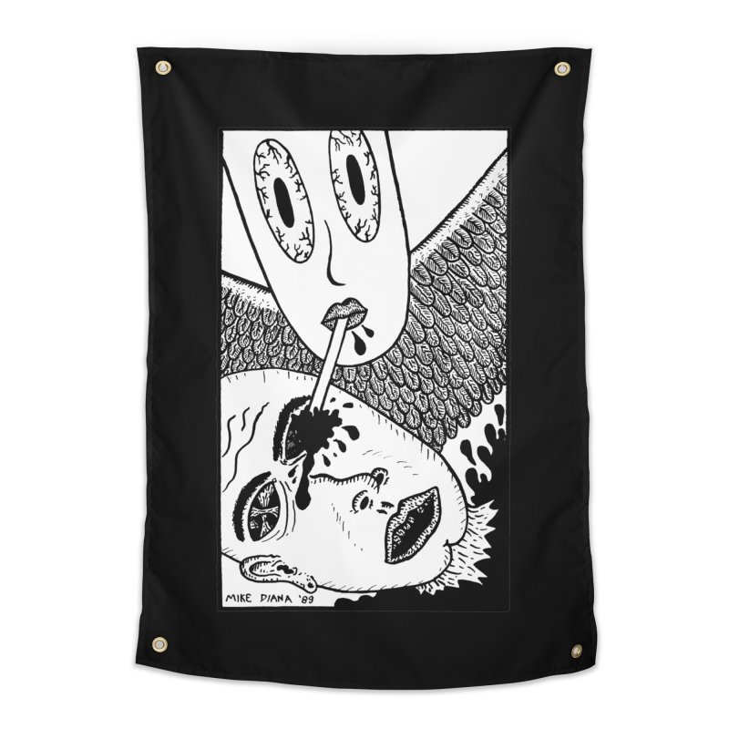 "Mike Diana ""Sip"" Home Tapestry by Mike Diana T-Shirts! Horrible Ugly Heads Limited E"