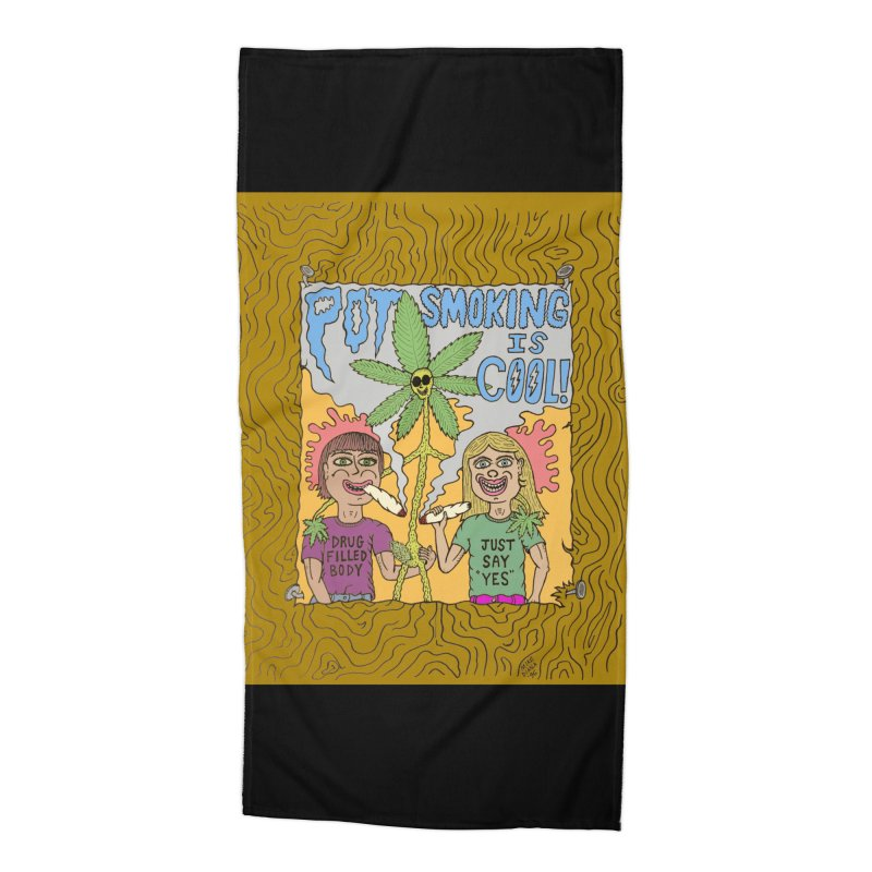 Pot Smoking Is Cool by Mike Diana Accessories Beach Towel by Mike Diana T-Shirts Mugs and More!