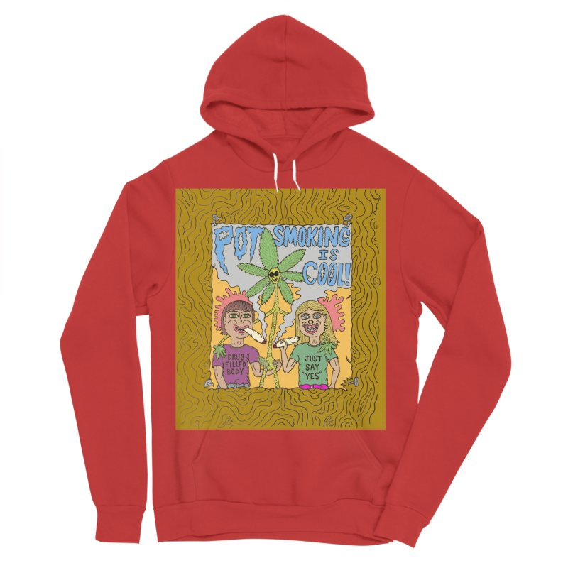 Pot Smoking Is Cool by Mike Diana Men's Sponge Fleece Pullover Hoody by Mike Diana T-Shirts! Horrible Ugly Heads Limited E