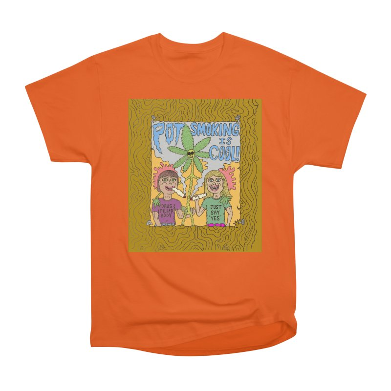 Pot Smoking Is Cool by Mike Diana Men's T-Shirt by Mike Diana T-Shirts Mugs and More!