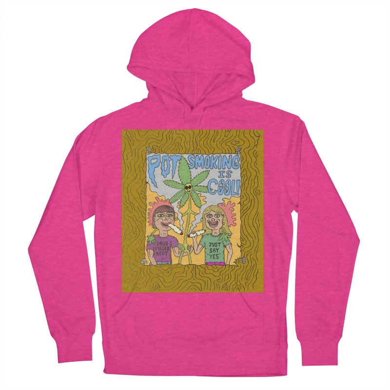 Pot Smoking Is Cool by Mike Diana Men's French Terry Pullover Hoody by Mike Diana T-Shirts! Horrible Ugly Heads Limited E