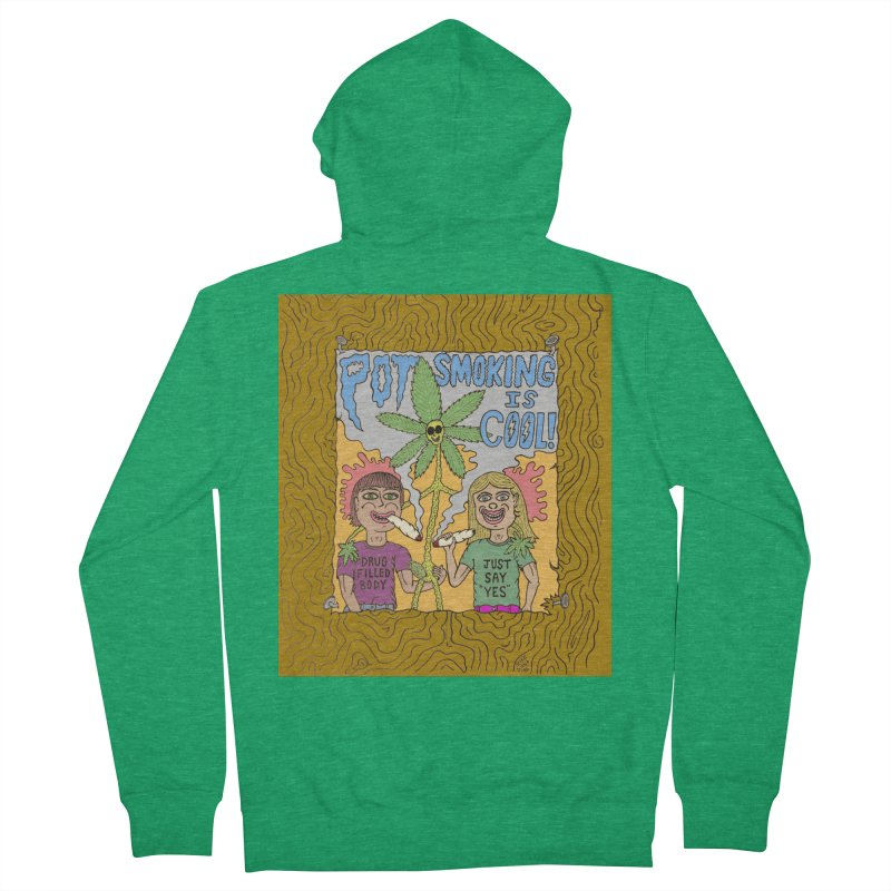 Pot Smoking Is Cool by Mike Diana Men's French Terry Zip-Up Hoody by Mike Diana T-Shirts! Horrible Ugly Heads Limited E