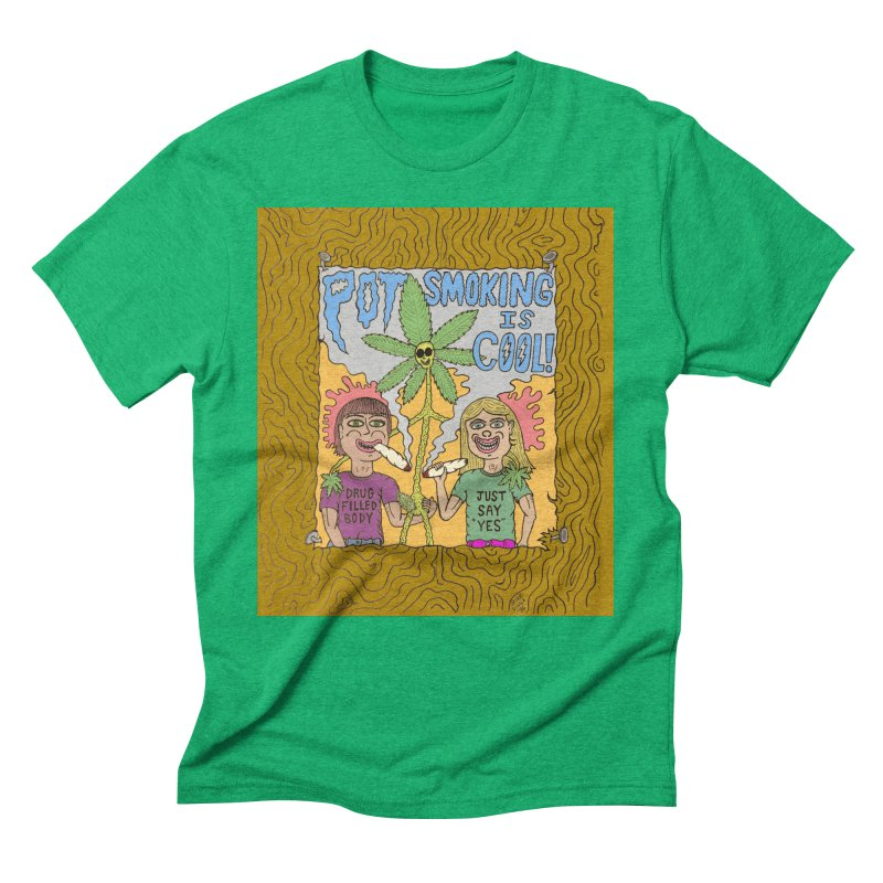 Pot Smoking Is Cool by Mike Diana Men's  by Mike Diana T-Shirts! Horrible Ugly Heads Limited E
