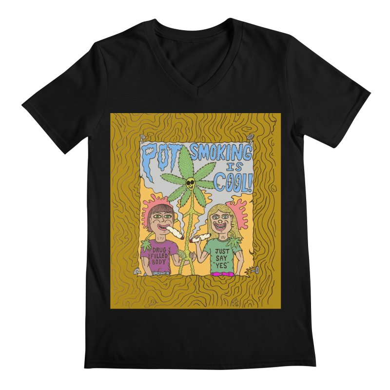 Pot Smoking Is Cool by Mike Diana Men's Regular V-Neck by Mike Diana T-Shirts Mugs and More!