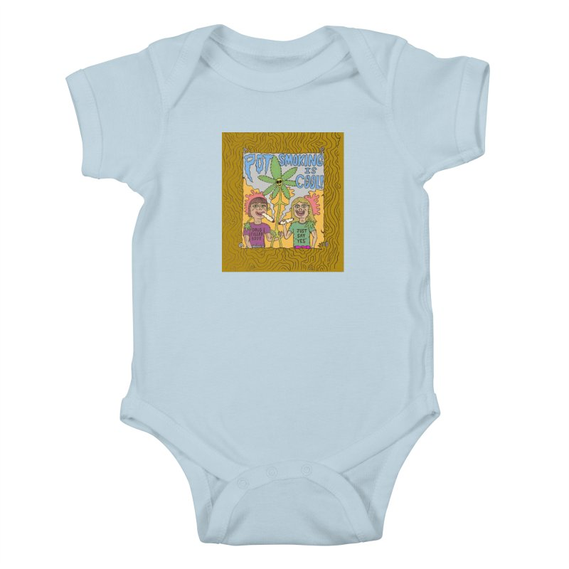 Pot Smoking Is Cool by Mike Diana Kids Baby Bodysuit by Mike Diana T-Shirts Mugs and More!
