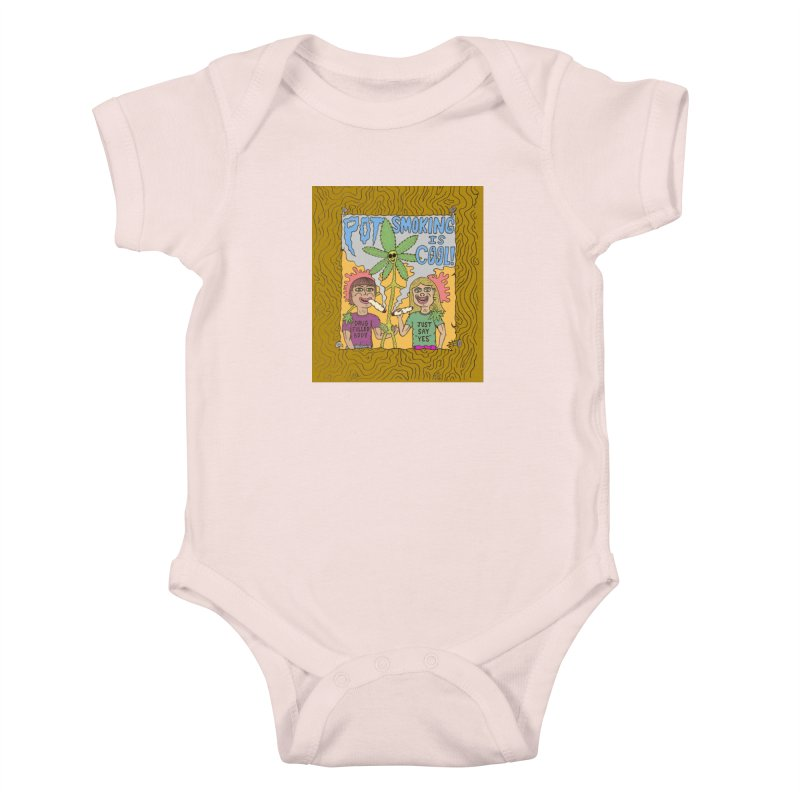 Pot Smoking Is Cool by Mike Diana Kids Baby Bodysuit by Mike Diana T-Shirts! Horrible Ugly Heads Limited E