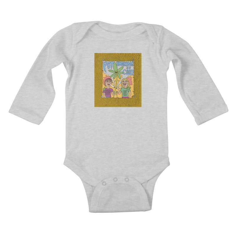 Pot Smoking Is Cool by Mike Diana Kids Baby Longsleeve Bodysuit by Mike Diana T-Shirts Mugs and More!