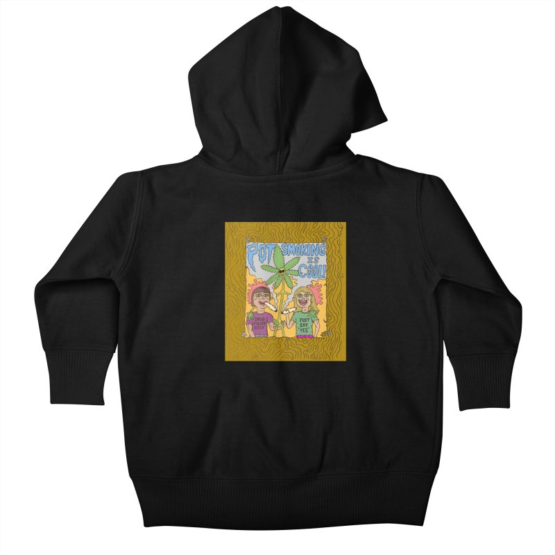 Pot Smoking Is Cool by Mike Diana Kids Baby Zip-Up Hoody by Mike Diana T-Shirts Mugs and More!