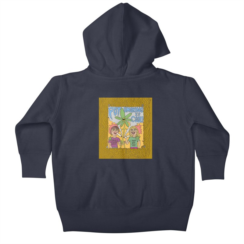 Pot Smoking Is Cool by Mike Diana Kids Baby Zip-Up Hoody by Mike Diana T-Shirts! Horrible Ugly Heads Limited E