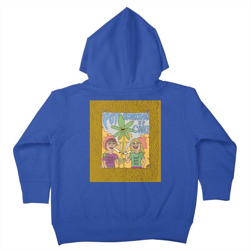 Pot Smoking Is Cool by Mike Diana Kids Toddler Zip-Up Hoody by Mike Diana T-Shirts! Horrible Ugly Heads Limited E
