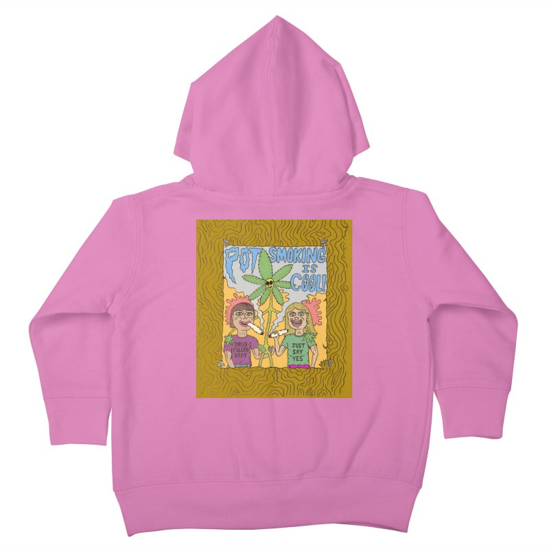 Pot Smoking Is Cool by Mike Diana Kids Toddler Zip-Up Hoody by Mike Diana T-Shirts Mugs and More!