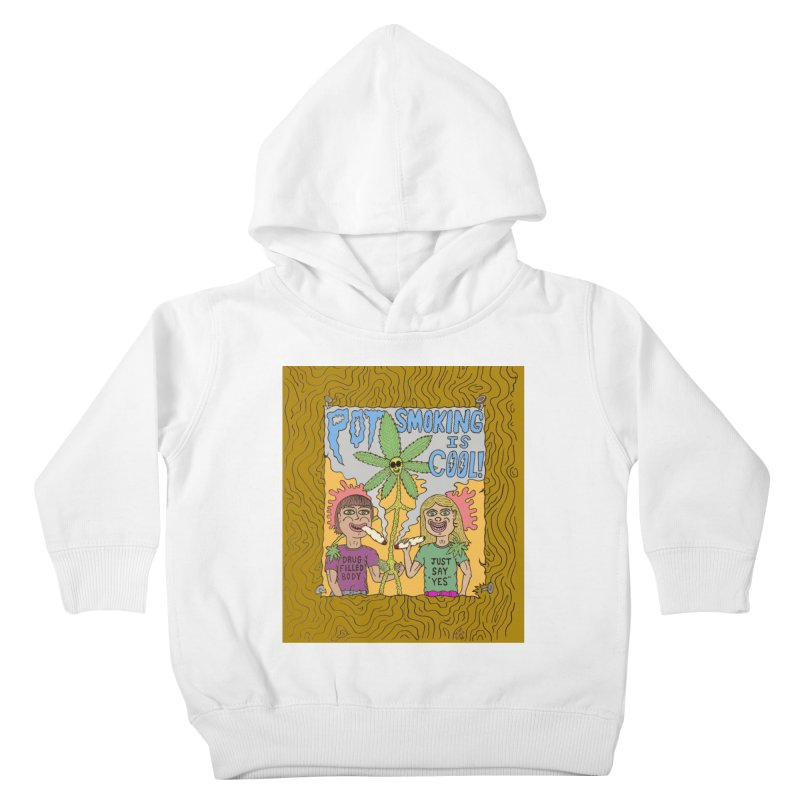 Pot Smoking Is Cool by Mike Diana Kids  by Mike Diana T-Shirts! Horrible Ugly Heads Limited E