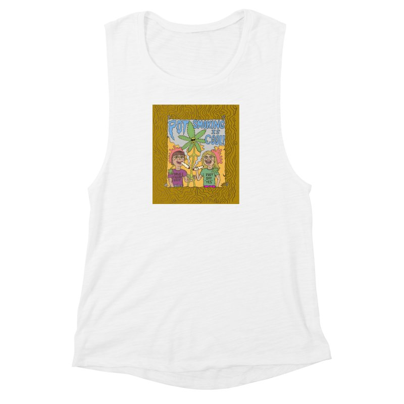 Pot Smoking Is Cool by Mike Diana Women's  by Mike Diana T-Shirts! Horrible Ugly Heads Limited E