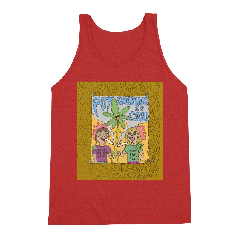 Pot Smoking Is Cool by Mike Diana Men's Triblend Tank by Mike Diana T-Shirts Mugs and More!