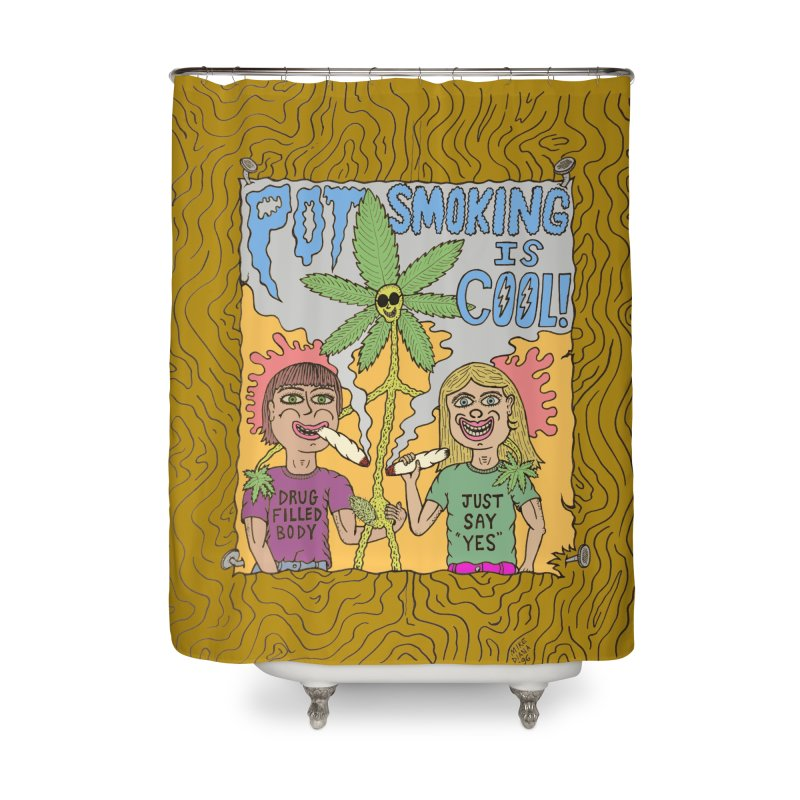 Pot Smoking Is Cool by Mike Diana Home Shower Curtain by Mike Diana T-Shirts Mugs and More!