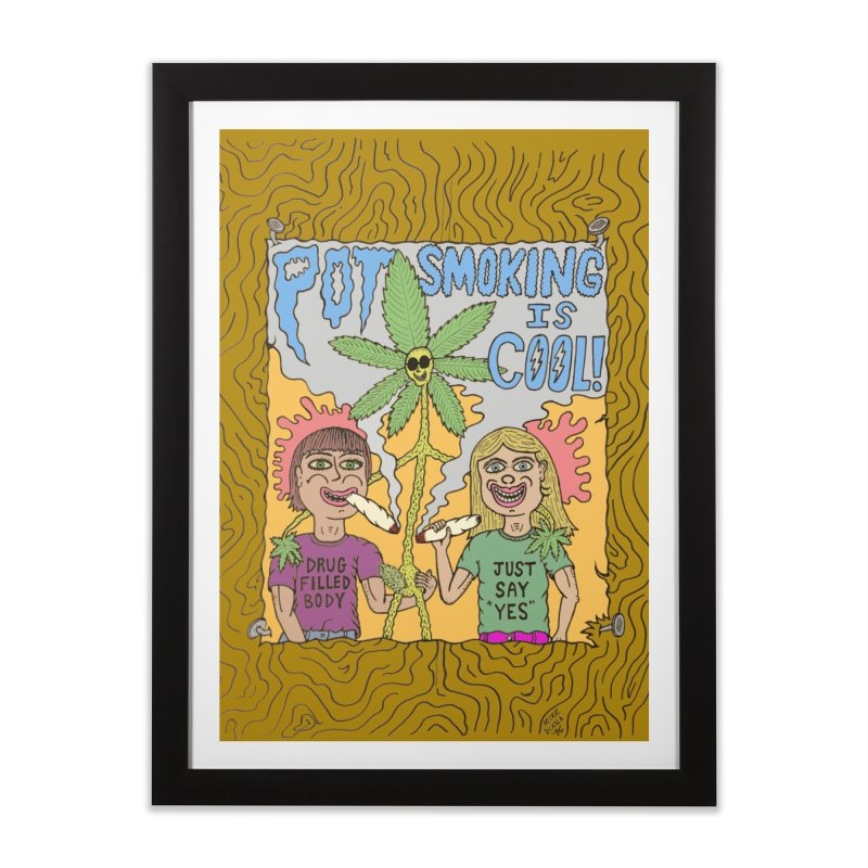 Pot Smoking Is Cool by Mike Diana Home Framed Fine Art Print by Mike Diana T-Shirts Mugs and More!
