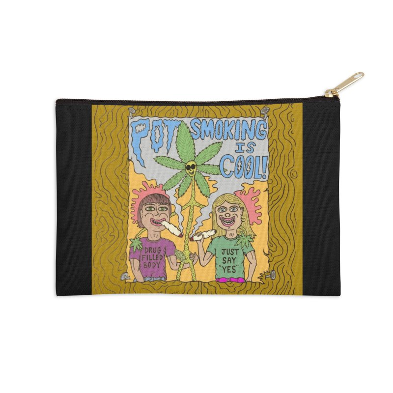 Pot Smoking Is Cool by Mike Diana Accessories Zip Pouch by Mike Diana T-Shirts Mugs and More!