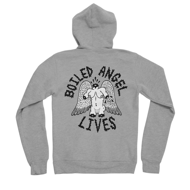 Boiled Angel Lives Men's Sponge Fleece Zip-Up Hoody by Mike Diana T-Shirts Mugs and More!