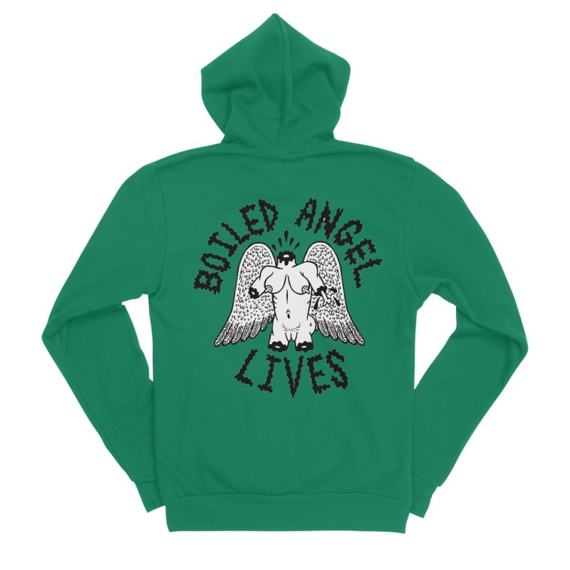 Boiled Angel Lives Women's Sponge Fleece Zip-Up Hoody by Mike Diana T-Shirts Mugs and More!