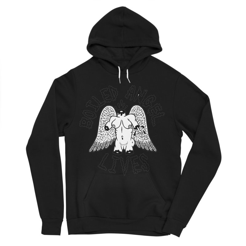 Boiled Angel Lives Men's Sponge Fleece Pullover Hoody by Mike Diana T-Shirts! Horrible Ugly Heads Limited E