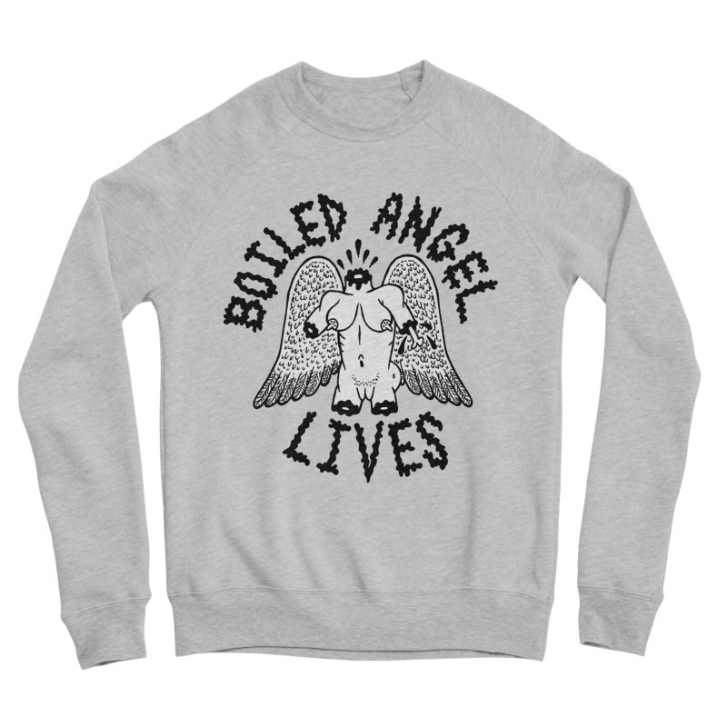 Boiled Angel Lives Men's Sponge Fleece Sweatshirt by Mike Diana T-Shirts Mugs and More!