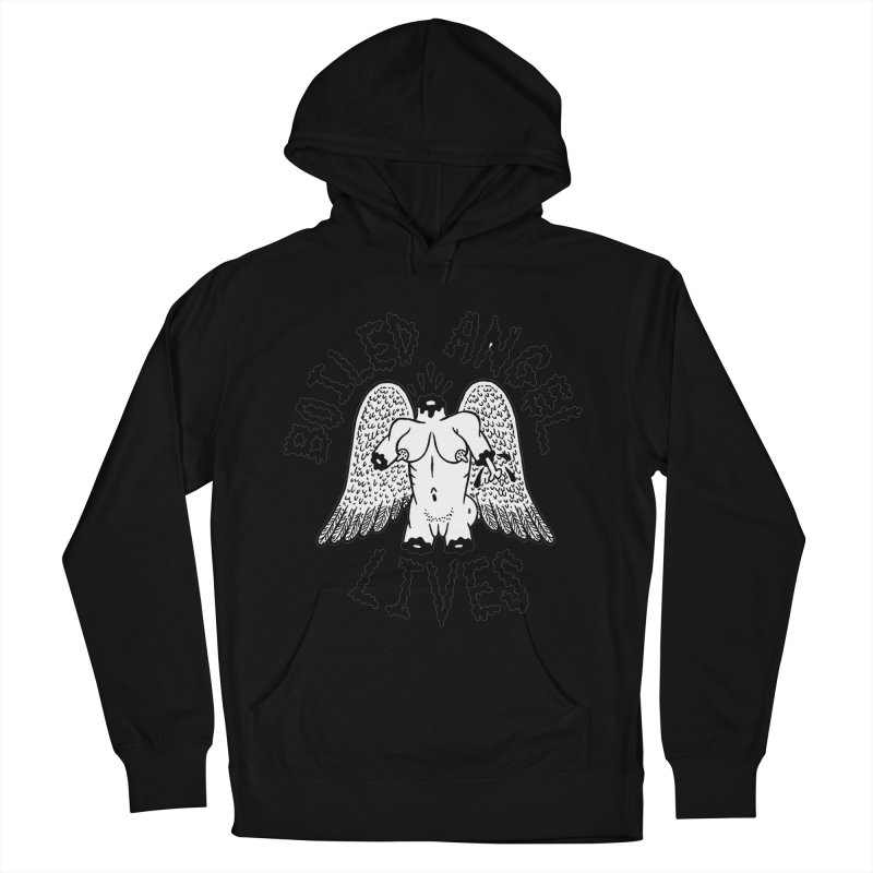 Boiled Angel Lives Women's French Terry Pullover Hoody by Mike Diana T-Shirts! Horrible Ugly Heads Limited E