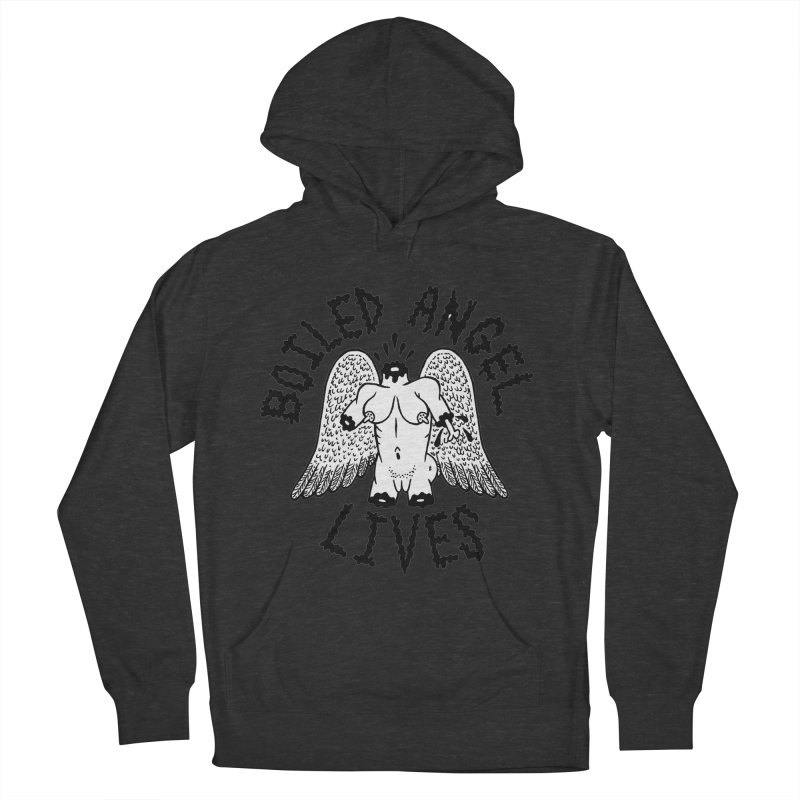 Boiled Angel Lives Men's French Terry Pullover Hoody by Mike Diana T-Shirts Mugs and More!